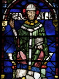 Portrait of St. Thomas Becket, Canterbury Cathedral, UNESCO World Heritage Site, England Photographic Print by Peter Barritt