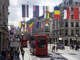 Flags, Regent Street, West End, London, England, United Kingdom, Europe Photographic Print by Ethel Davies