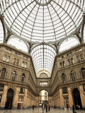 Low Angle View of the Interior of the Galleria Umberto I, Naples, Campania, Italy, Europe Photographic Print by Vincenzo Lombardo