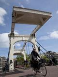 Magere Brug (Skinny Bridge), Amsterdam, Holland, Europe Fotoprint van Frank Fell