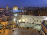 Jewish Quarter of Western Wall Plaza, Old City, UNESCO World Heritge Site, Jerusalem, Israel Fotografie-Druck von Gavin Hellier