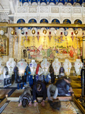Stone of Unction, Church of Holy Sepulchre, Old City, UNESCO World Heritage Site, Jerusalem, Israel Photographic Print by Gavin Hellier