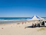 Surfers Paradise Beach and Lifeguards at Surfers Paradise, the Gold Coast, Queensland, Australia Photographic Print by Matthew Williams-Ellis