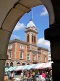 Market Hall and Market Stalls, Chesterfield, Derbyshire, England, United Kingdom, Europe Photographic Print by Frank Fell