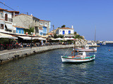 Cafes on Harbour, Kokkari, Samos, Aegean Islands, Greece Photographic Print by Stuart Black
