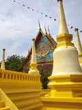 Golden Chedi in Grounds of Wat Mongkhon Nimit, Phuket Old Town, Phuket, Thailand, Southeast Asia Photographic Print by Lynn Gail