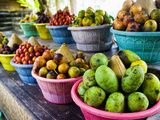 Exotic Fruits at a Tropical Fruit Farm, Bali, Indonesia, Southeast Asia, Asia Fotografisk trykk av Matthew Williams-Ellis