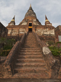 The Old Buddhist Temple of Wat Yai Chaimongkol, Ayutthaya, UNESCO World Heritage Site, Thailand Photographic Print by Antonio Busiello