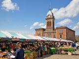Market Hall and Market Stalls, Chesterfield, Derbyshire, England, United Kingdom, Europe Photographie par Frank Fell