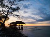 Restaurant on the Beach at Sunset, Gili Trawangan, Gili Islands, Indonesia, Southeast Asia, Asia Photographic Print by Matthew Williams-Ellis