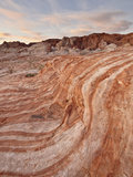 Orange and White Sandstone Layers at Sunrise, Valley of Fire State Park, Nevada, USA Photographic Print by James Hager