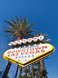 Welcome to Downtown Las Vegas Sign, Las Vegas, Nevada, United States of America, North America Photographic Print by Michael DeFreitas