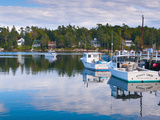 Lobster Fishing Boats, Boothbay Harbor, Maine, New England, United States of America, North America Fotografie-Druck von Alan Copson