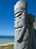 Traditional Wood Carving at the Ile Des Pins, New Caledonia, Melanesia, South Pacific, Pacific Photographic Print by Michael Runkel