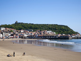 South Sands and Castle Hill, Scarborough, North Yorkshire, Yorkshire, England, UK, Europe Photographic Print by Mark Sunderland