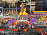 River Hongbao Decorations for Chinese New Year Celebrations at Marina Bay, Singapore Photographic Print by Gavin Hellier
