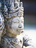 Close-Up of Stone Statue  Pura Tirta Empul Hindu Temple  Bali  Indonesia  Southeast Asia  Asia
