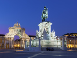 Praca Do Comercio with Equestrian Statue of Dom Jose and Arco Da Rua Augusta, Lisbon, Portugal Photographic Print by Stuart Black
