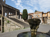 Fountain and Terrace of the Pope's Palace in Viterbo, Lazio, Italy, Europe Photographic Print by Vincenzo Lombardo