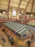 Stalls in the Market Hall, Derby, Derbyshire, England, United Kingdom, Europe Photographic Print by Frank Fell