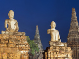 Old Buddhist Statues, Ayutthaya, UNESCO World Heritage Site, Thailand, Southeast Asia, Asia Photographic Print by Antonio Busiello