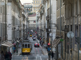 Tram in the Old Town, Lisbon, Portugal, Europe Photographic Print by Angelo Cavalli