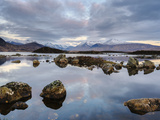 Snow Covered Mountains, Lochan Na H Achlaise, Rannoch Moor, Argyll and Bute, Highlands, Scotland Photographic Print by Chris Hepburn