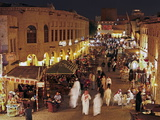 The Restored Souq Waqif with Mud Rendered Shops and Exposed Timber Beams, Doha, Qatar, Middle East Photographic Print by Gavin Hellier