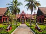 Courtyard Inside the National Museum of Cambodia, Phnom Penh, Cambodia, Indochina, Southeast Asia Photographic Print by Matthew Williams-Ellis