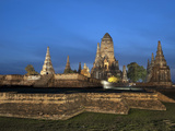 Wat Chai Watthanaram, Old Buddhist Temple, Ayutthaya, UNESCO World Heritage Site, Thailand Photographic Print by Antonio Busiello