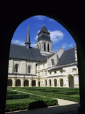 Cloisters and Abbey Church, Fontevraud Abbey, Fontevraud, Pays-De-La-Loire, France Photographic Print by Stuart Black