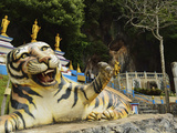 Tiger Statue, Tiger Cave Temple (Wat Tham Suea), Krabi Province, Thailand, Southeast Asia, Asia Photographic Print by Jochen Schlenker
