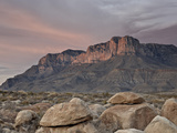 Guadalupe Peak and El Capitan at Sunset, Guadalupe Mountains National Park, Texas, USA Photographic Print by James Hager