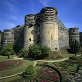 Chateau D'Angers, Angers, Loire Valley, Pays-De-La-Loire, France, Europe Photographic Print by Stuart Black