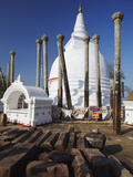 Thuparama Dagoba, Anuradhapura, UNESCO World Heritage Site, North Central Province, Sri Lanka, Asia Photographic Print by Ian Trower