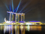 Marina Bay Sands at Night, Marina Bay, Singapore, Southeast Asia, Asia Photographic Print by Gavin Hellier