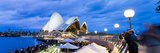 Sydney Opera House, UNESCO World Heritage Site, and People at Opera Bar at Night, Sydney, Australia Photographic Print by Matthew Williams-Ellis