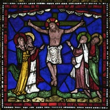 Crucifixion Stained Glass, Canterbury Cathedral, UNESCO World Heritage Site, Canterbury, England Photographic Print by Peter Barritt