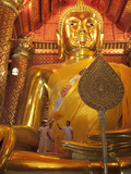 Golden Buddha, Wat Phanan Choeng, Ayutthaya, UNESCO World Heritage Site, Thailand, Southeast Asia Photographic Print by Antonio Busiello