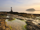 Dawn at Penmon Lighthouse, Penmon Point, Anglesey, North Wales, Wales, United Kingdom, Europe Photographic Print by Chris Hepburn
