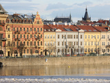 Across the River Vltava and the Colourful Baroque Houses, Prague, Czech Republic, Europe Photographic Print by  Godong