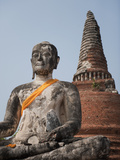 Buddha Statue, Ayutthaya, UNESCO World Heritage Site, Thailand, Southeast Asia, Asia Photographic Print by Antonio Busiello