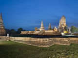 Wat Chai Watthanaram, an Old Buddhist Temple, Ayutthaya, UNESCO World Heritage Site, Thailand Photographic Print by Antonio Busiello