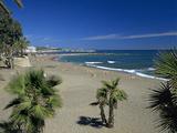 View Along Beach, Marbella, Costa del Sol, Andalucia, Spain, Mediterranean, Europe Photographic Print by Stuart Black