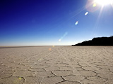 Isla de Los Pescadores and Salt Flats, Salar de Uyuni, Southwest Highlands, Bolivia, South America Photographic Print by Simon Montgomery