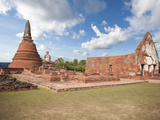 Old Buddhist Temple, Ayutthaya, UNESCO World Heritage Site, Thailand, Southeast Asia, Asia Photographic Print by Antonio Busiello