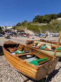 Fishing Boats on Pebble Beach, Devon Heritage Coast, UNESCO World Heritage Site, England Fotografie-Druck von Neale Clarke