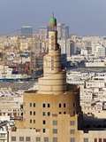 The Spiral Mosque of the Kassem Darwish Fakhroo Islamic Centre in Doha, Doha, Qatar, Middle East Photographic Print by Gavin Hellier