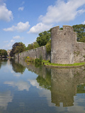 Moat and Bishops Palace, Home to Bishops of Bath and Wells for 800 Years, Wells, Somerset, UK Photographic Print by Neale Clarke
