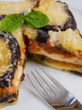 Parmigiana di Melanzane, Italian Dish Made with Shallow-Fried Sliced Filling, Italy Photographic Print by Nico Tondini